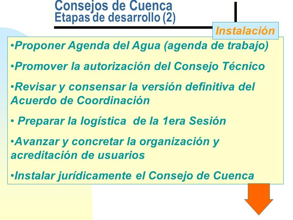 Consejos de Cuenca Etapas de desarrollo (2)
