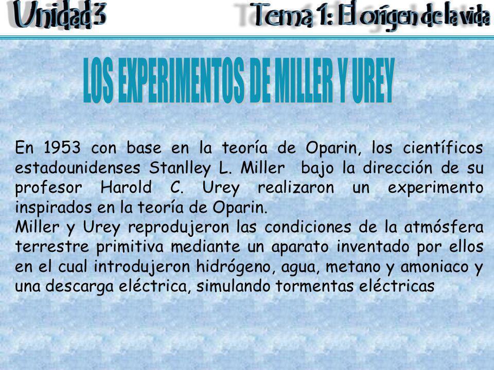 LOS EXPERIMENTOS DE MILLER Y UREY