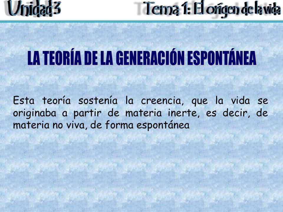 LA TEORÍA DE LA GENERACIÓN ESPONTÁNEA