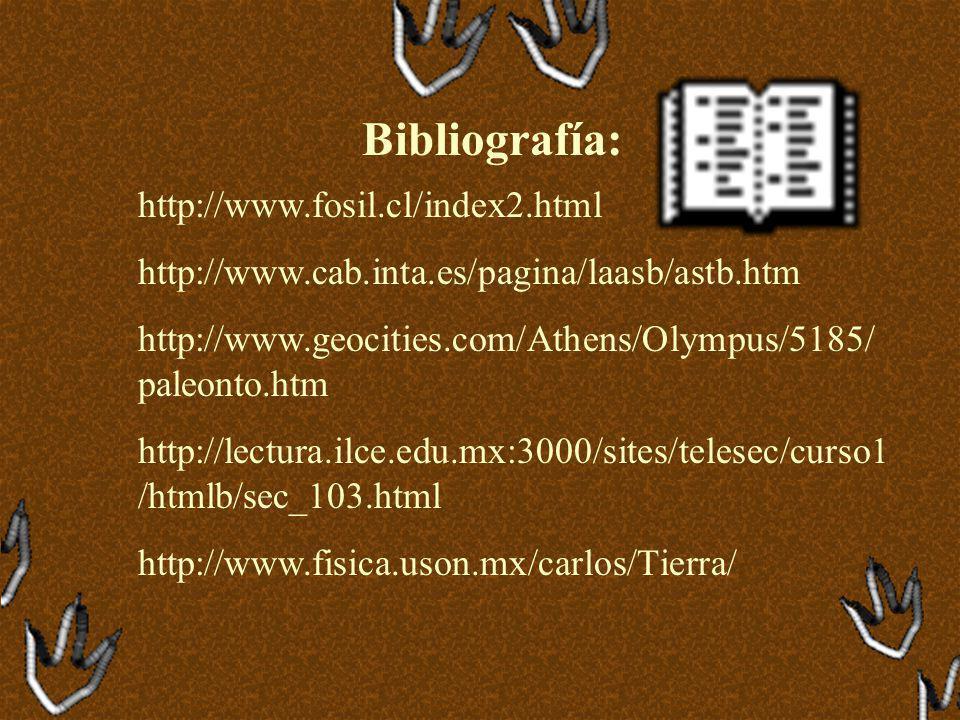 Bibliografía: http://www.fosil.cl/index2.html