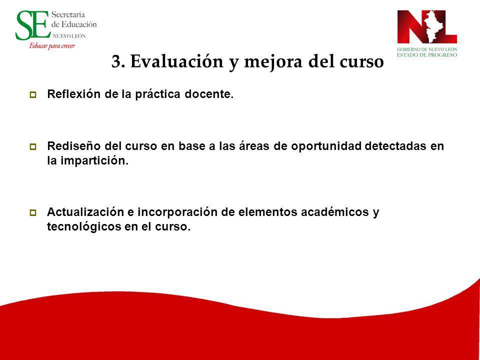 3. Evaluación y mejora del curso