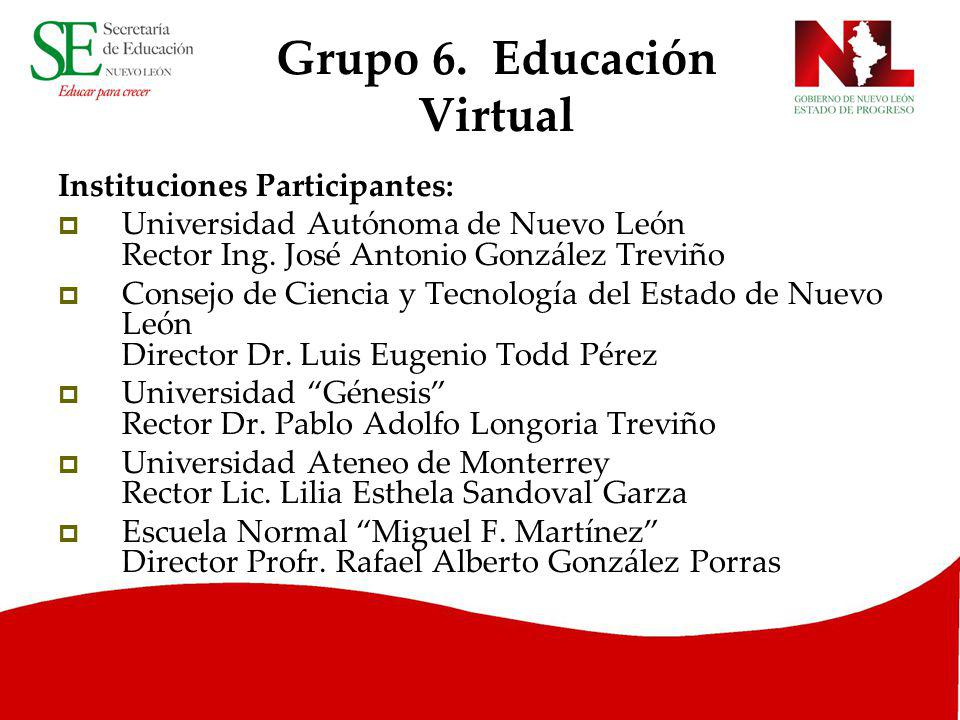 Grupo 6. Educación Virtual