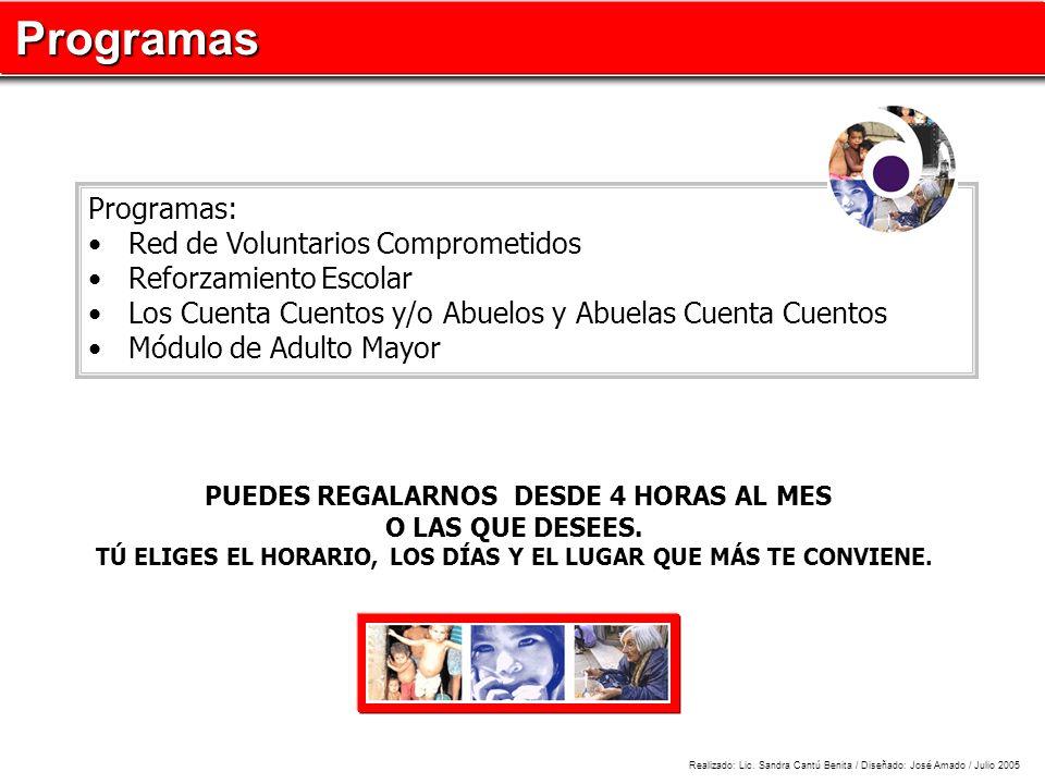 Programas Programas: Red de Voluntarios Comprometidos