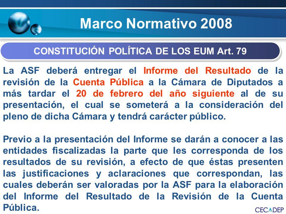 CONSTITUCIÓN POLÍTICA DE LOS EUM Art. 79