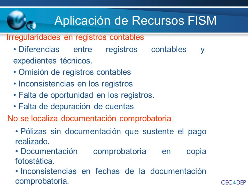 Aplicación de Recursos FISM