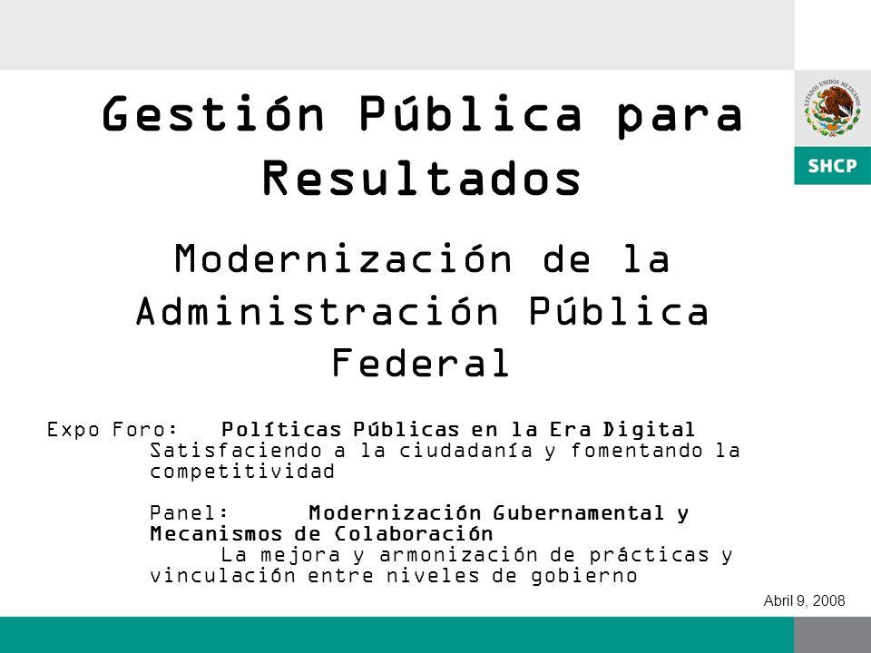 Gestión Pública para Resultados Modernización de la Administración Pública Federal