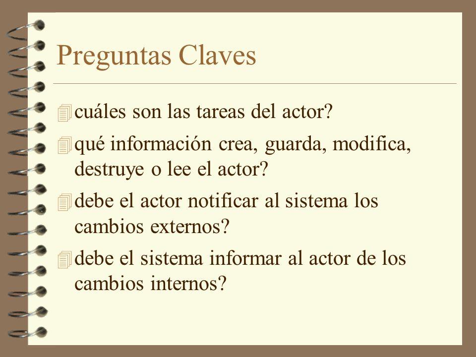 Preguntas Claves cuáles son las tareas del actor