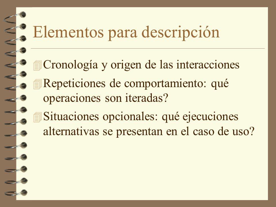 Elementos para descripción