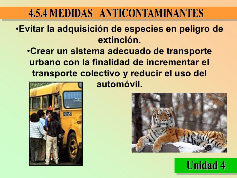 Evitar la adquisición de especies en peligro de extinción.