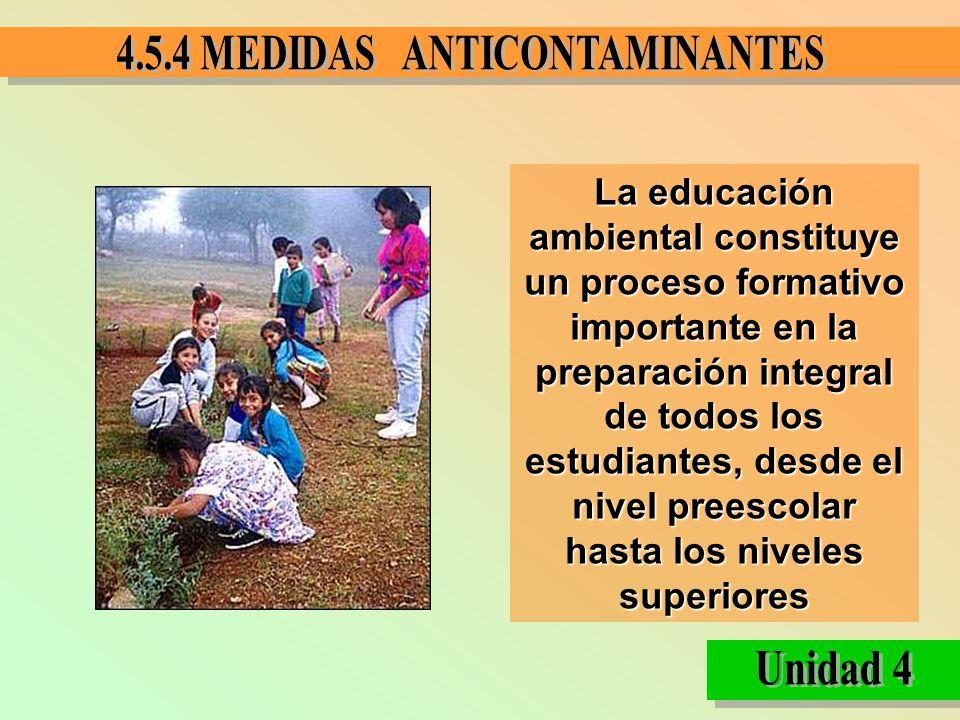La educación ambiental constituye un proceso formativo importante en la preparación integral de todos los estudiantes, desde el nivel preescolar hasta los niveles superiores