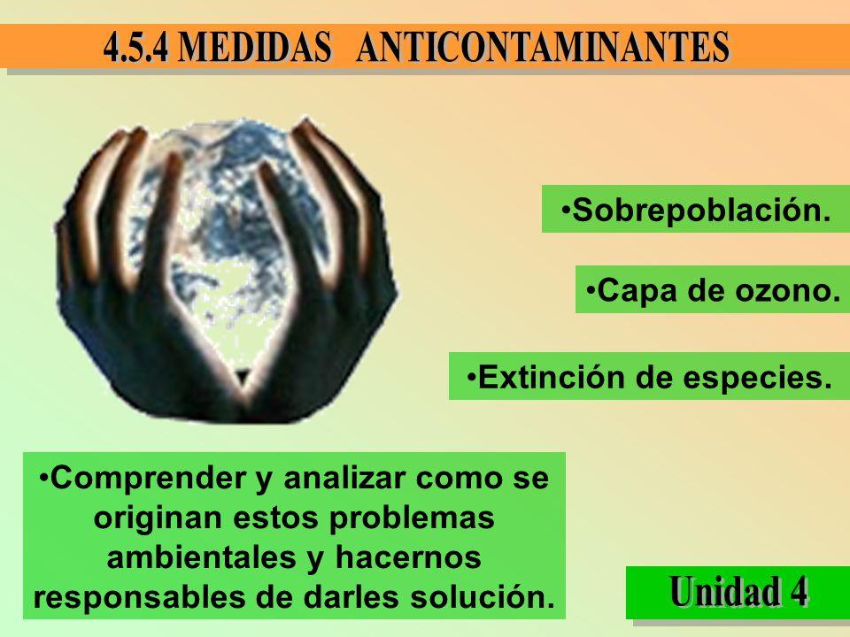 Sobrepoblación. Capa de ozono. Extinción de especies.