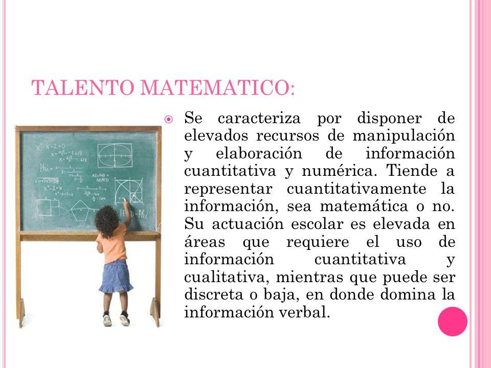 TALENTO MATEMATICO: