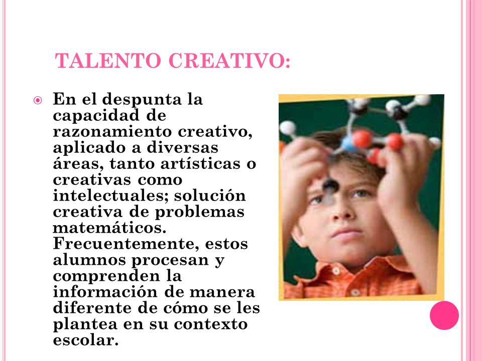 TALENTO CREATIVO: