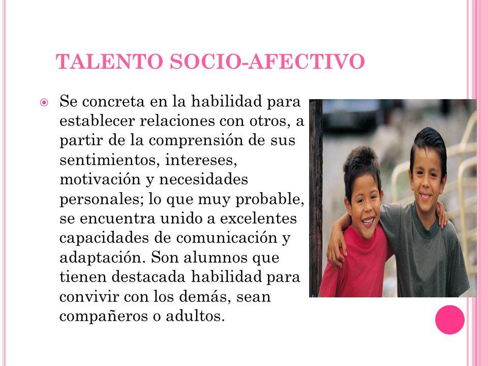 TALENTO SOCIO-AFECTIVO