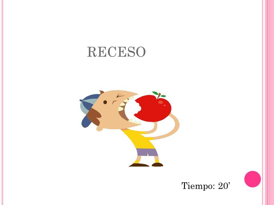 RECESO Tiempo: 20'