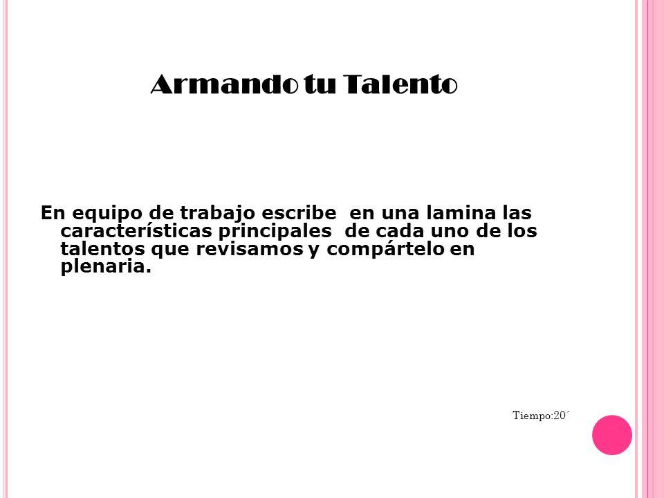 Armando tu Talento