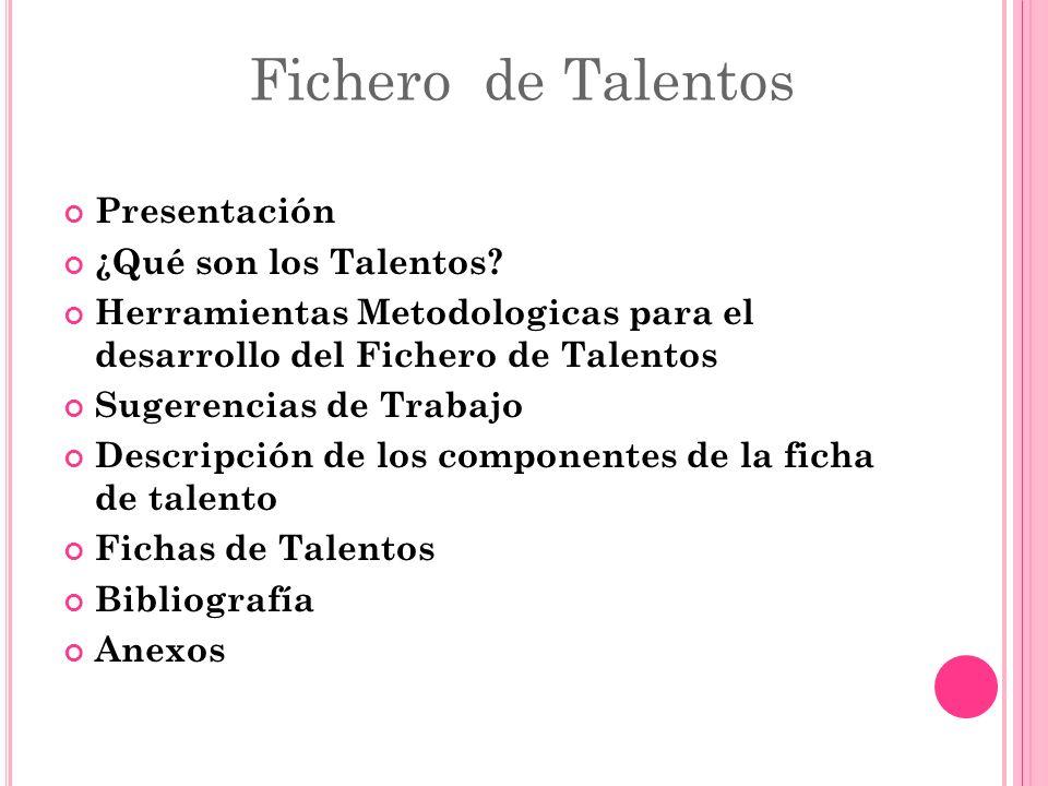 Fichero de Talentos Presentación ¿Qué son los Talentos