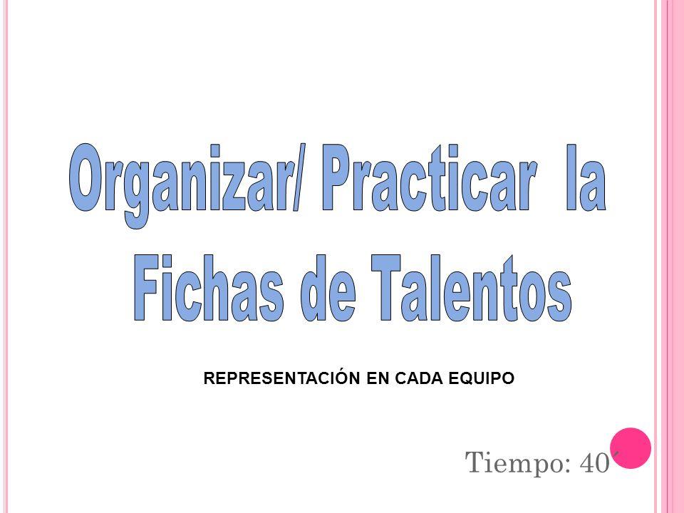 Organizar/ Practicar la