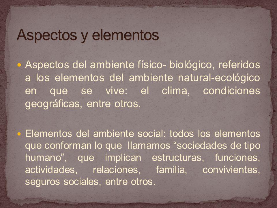 Aspectos y elementos
