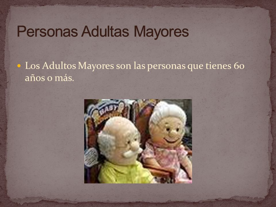 Personas Adultas Mayores
