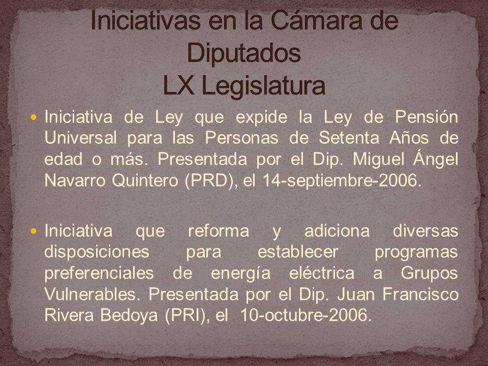 Iniciativas en la Cámara de Diputados LX Legislatura