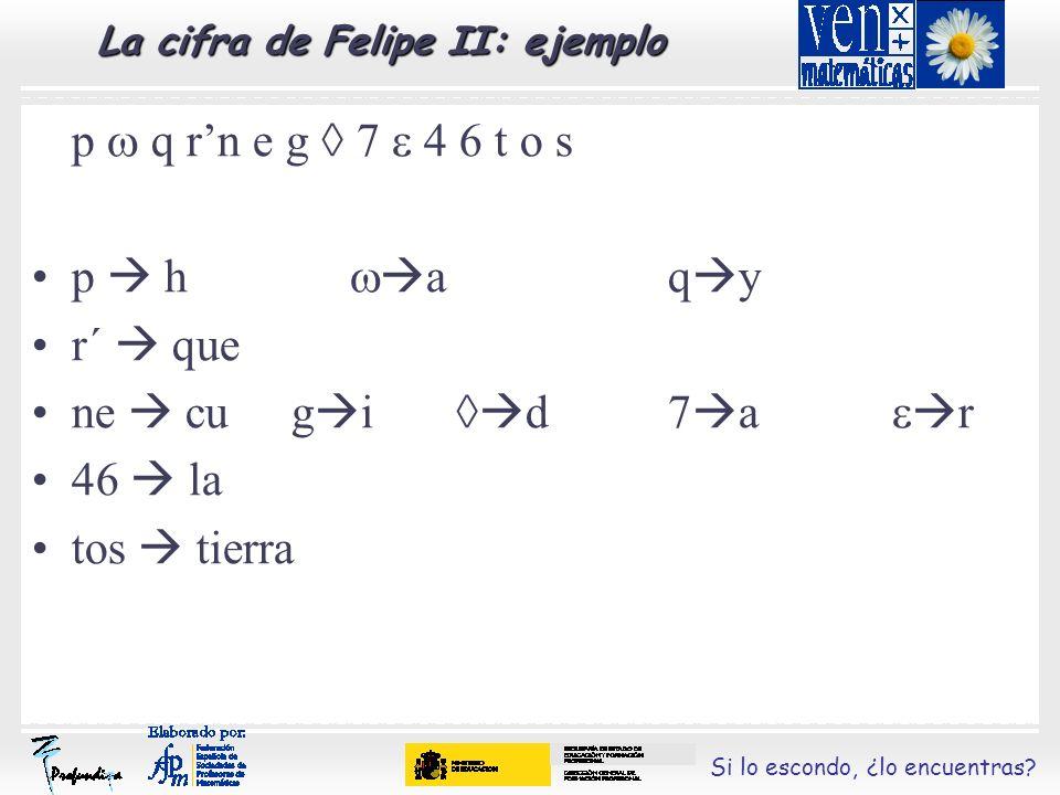 La cifra de Felipe II: ejemplo