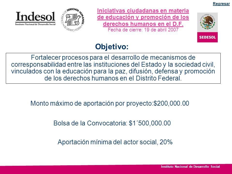 Regresar Iniciativas ciudadanas en materia de educación y promoción de los derechos humanos en el D.F.