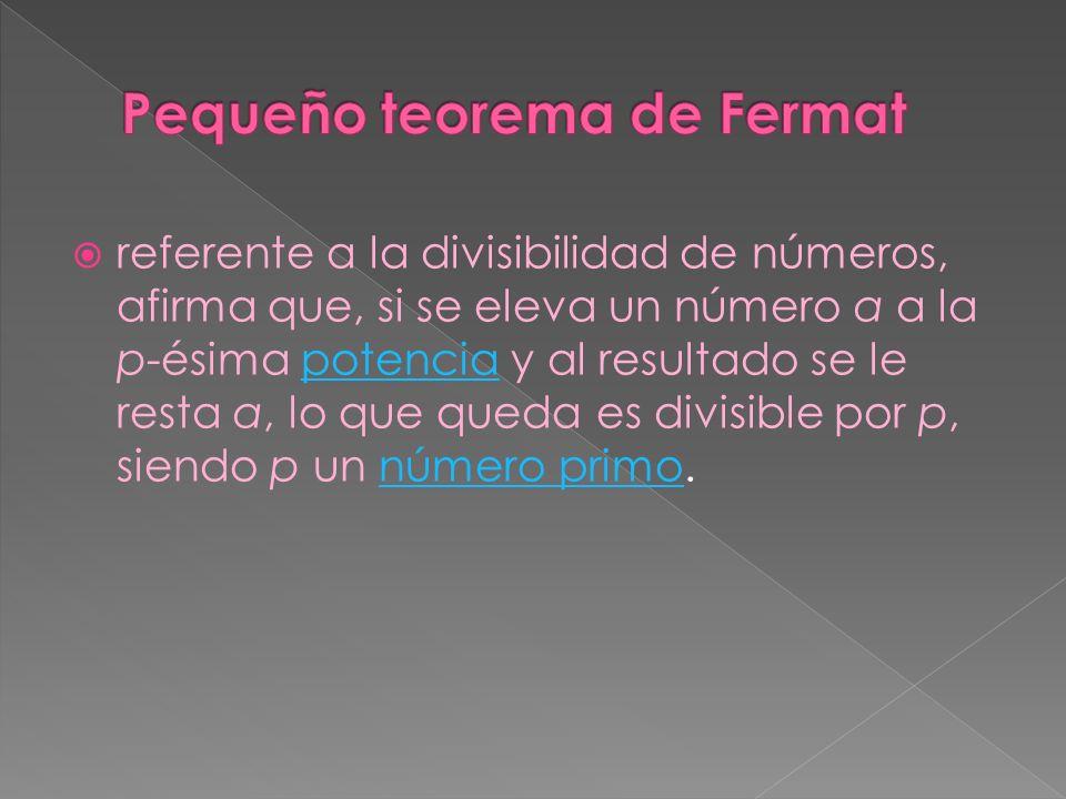 Pequeño teorema de Fermat