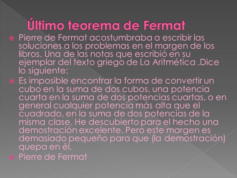 Último teorema de Fermat