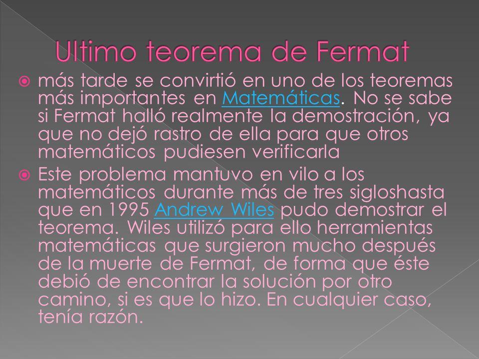 Ultimo teorema de Fermat