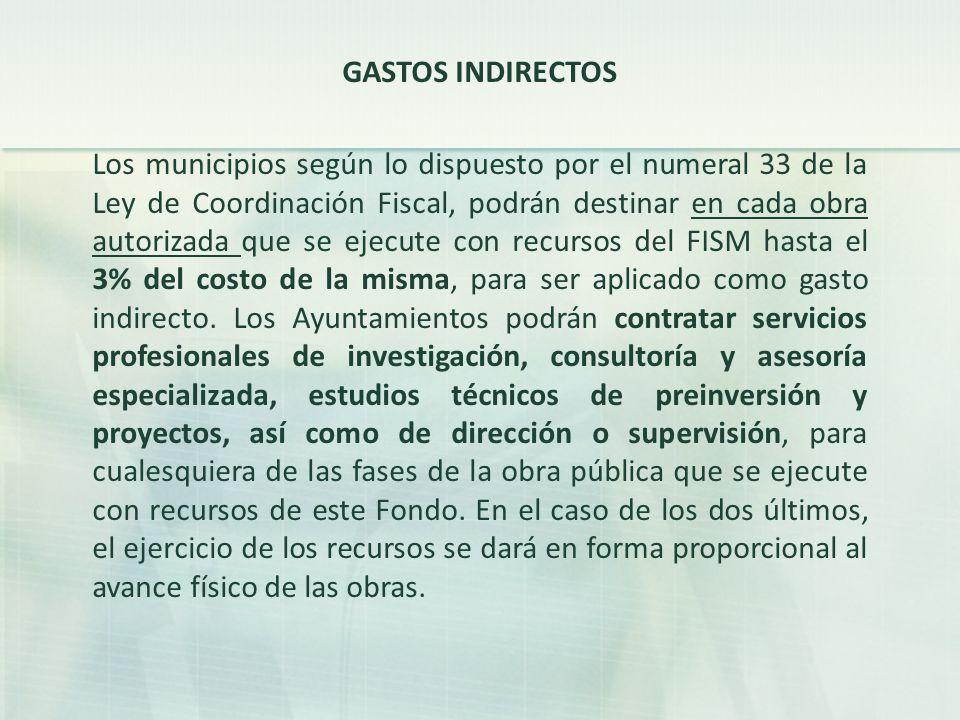 GASTOS INDIRECTOS