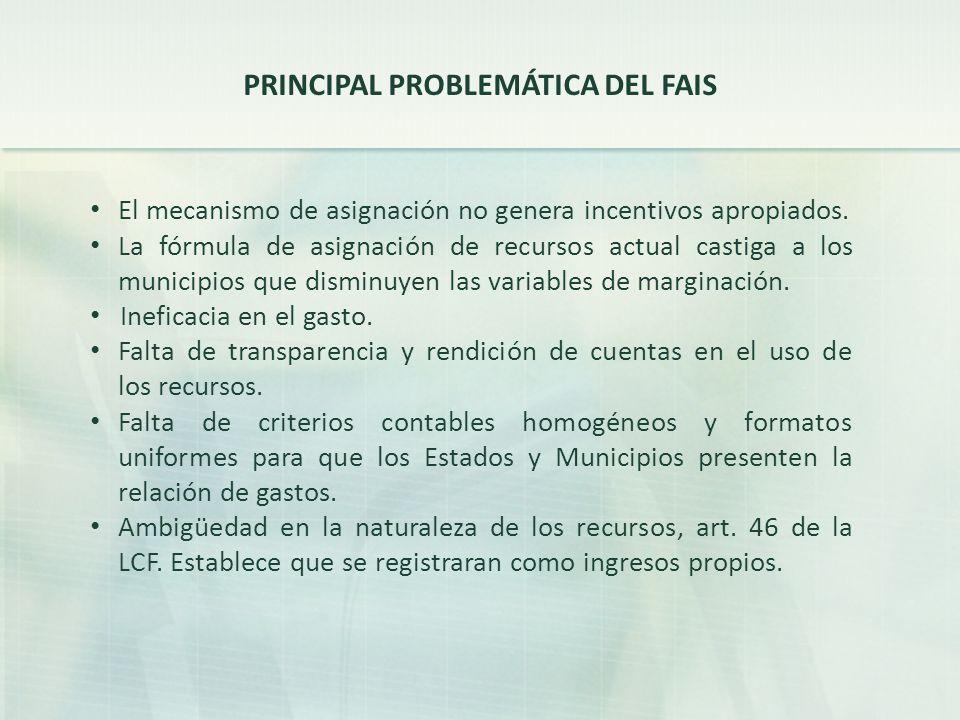 PRINCIPAL PROBLEMÁTICA DEL FAIS