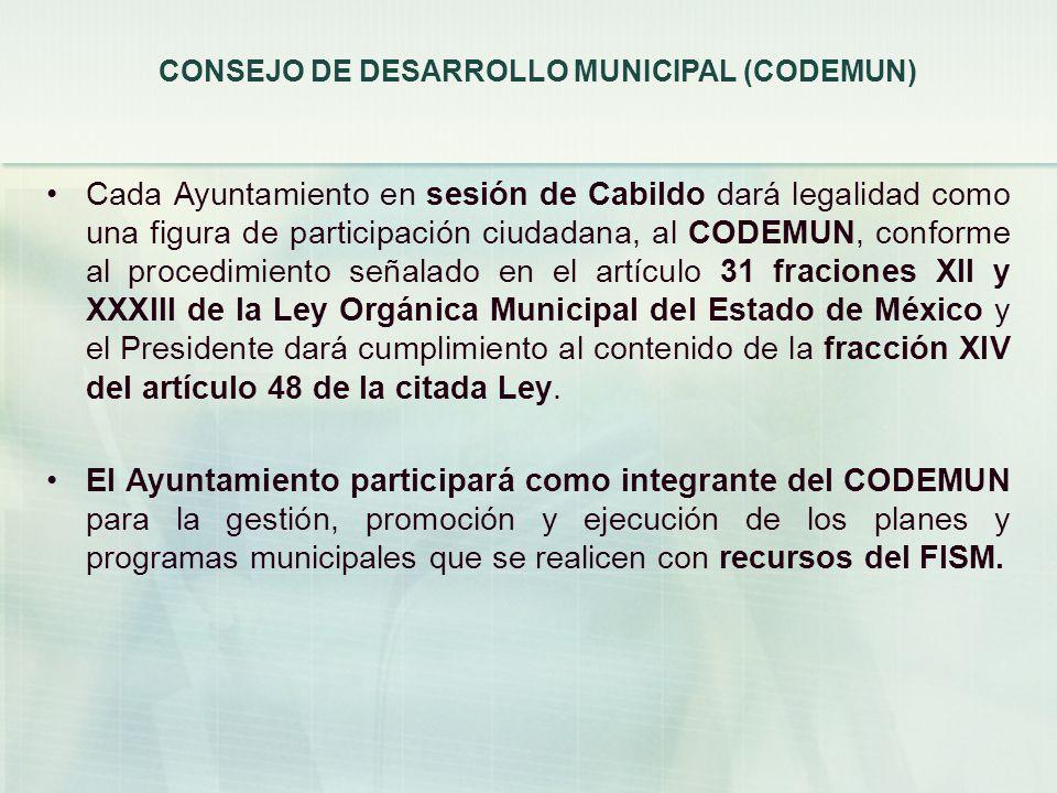 CONSEJO DE DESARROLLO MUNICIPAL (CODEMUN)