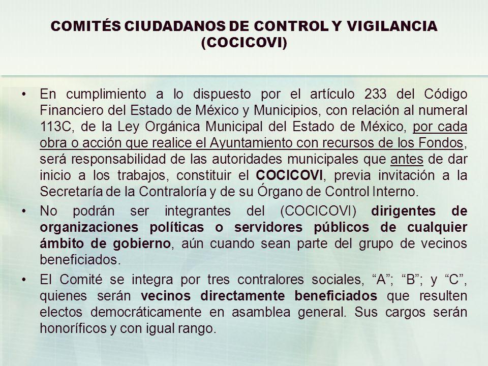 COMITÉS CIUDADANOS DE CONTROL Y VIGILANCIA (COCICOVI)