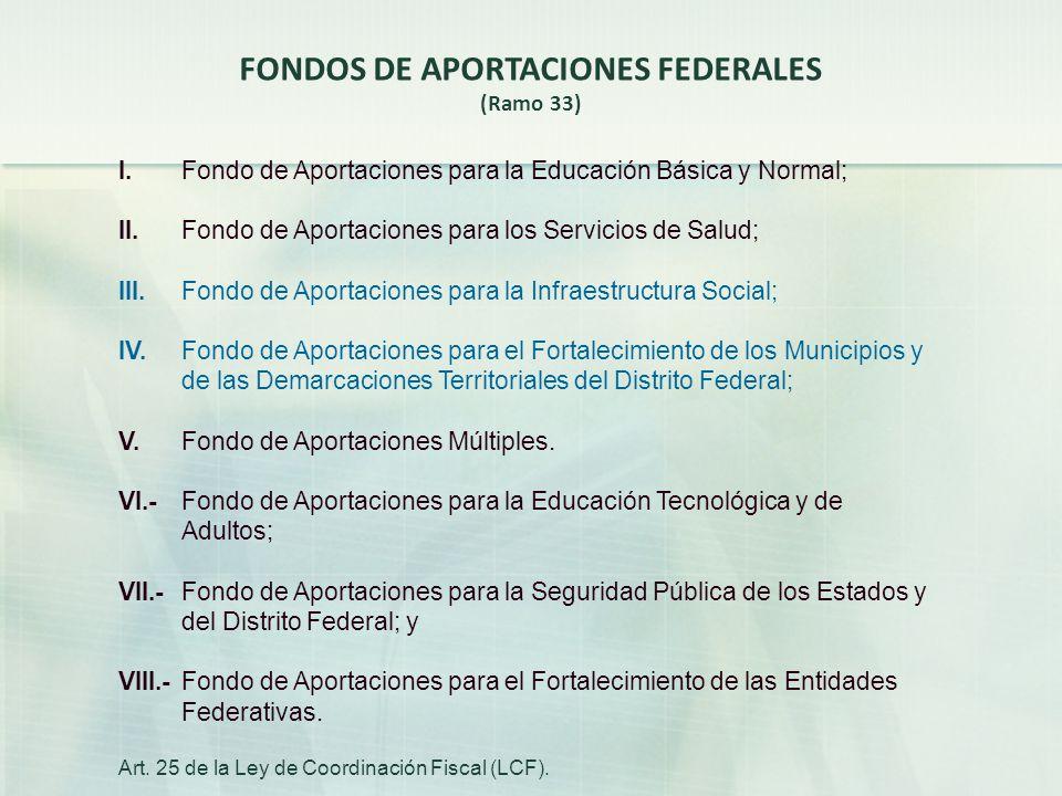 FONDOS DE APORTACIONES FEDERALES
