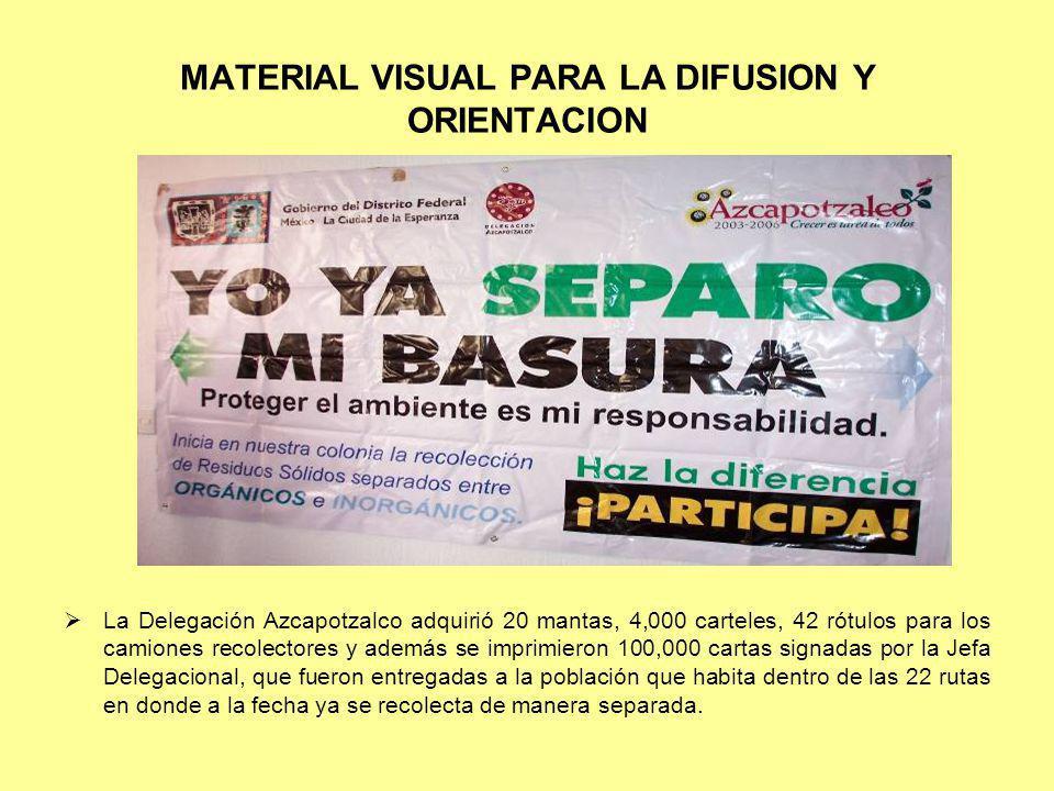 MATERIAL VISUAL PARA LA DIFUSION Y ORIENTACION