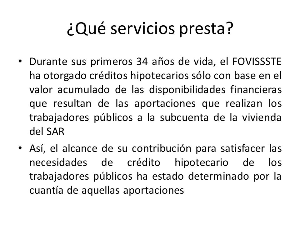 ¿Qué servicios presta