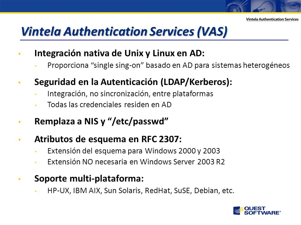 Vintela Authentication Services (VAS)