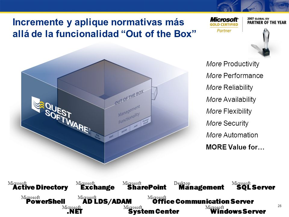 Incremente y aplique normativas más allá de la funcionalidad Out of the Box