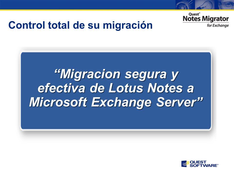 Control total de su migración