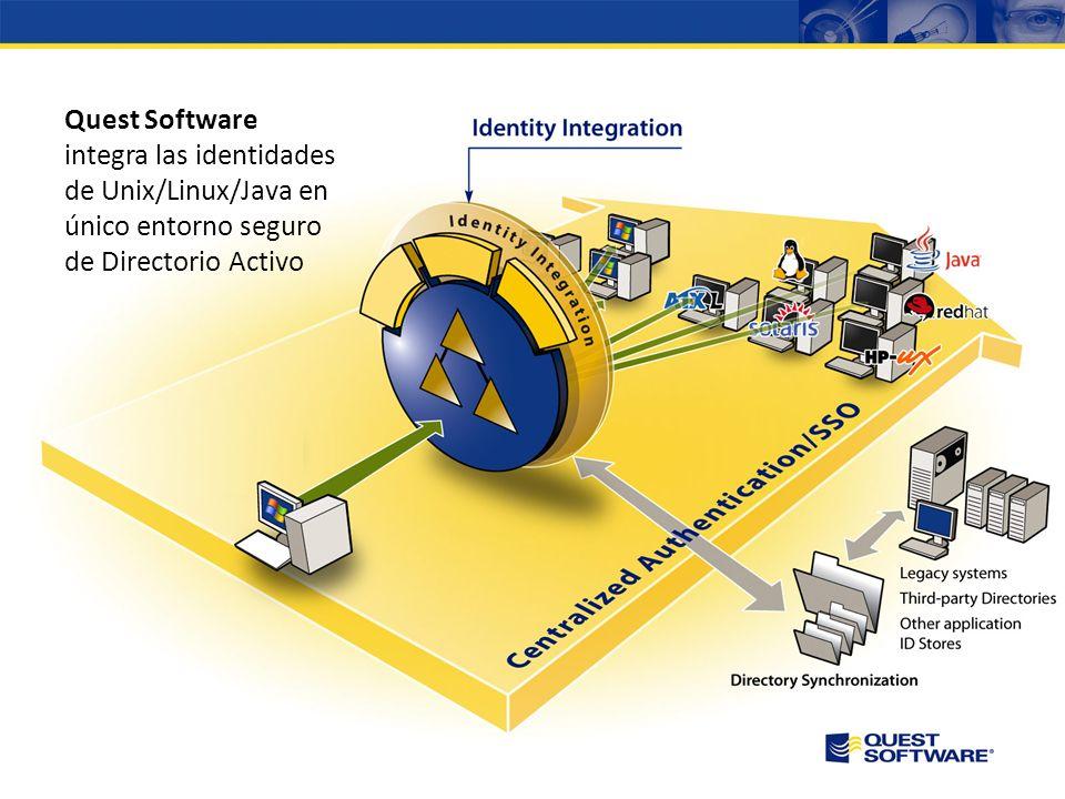 Quest Software integra las identidades de Unix/Linux/Java en único entorno seguro de Directorio Activo