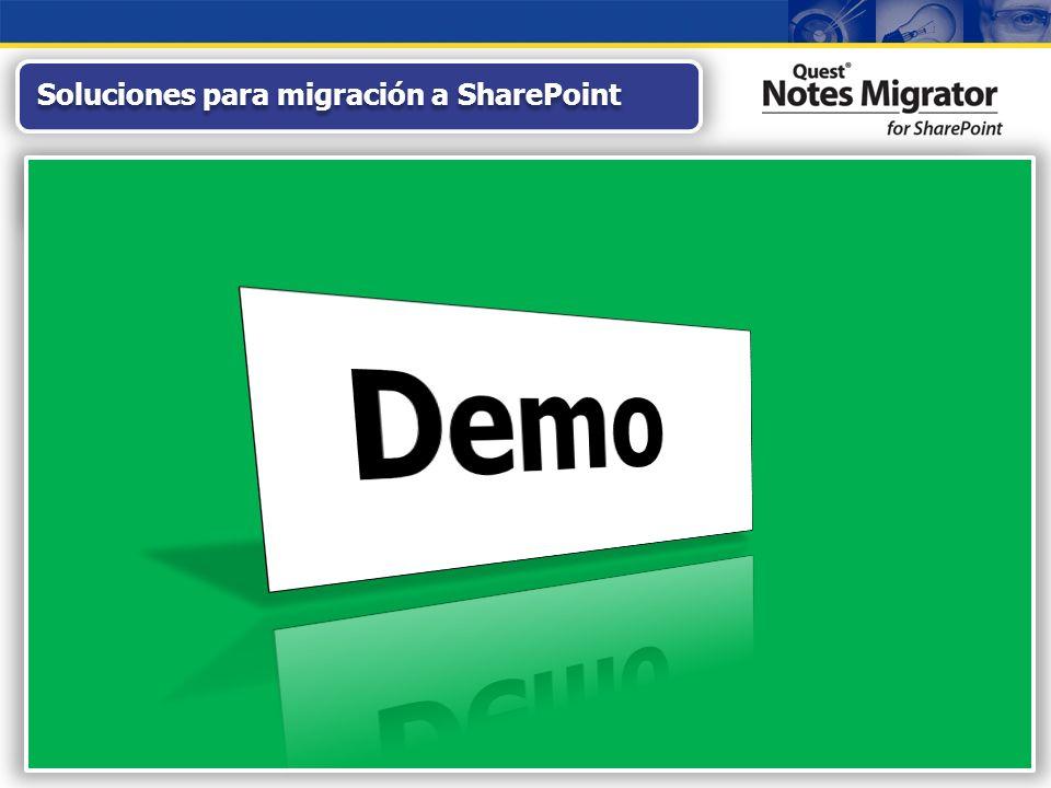 Migración Fiable y Sencilla de Aplicaciones Notes SharePoint 2007