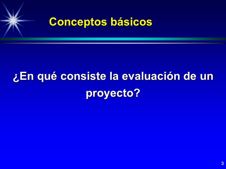 ¿En qué consiste la evaluación de un proyecto