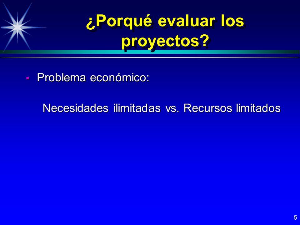 ¿Porqué evaluar los proyectos