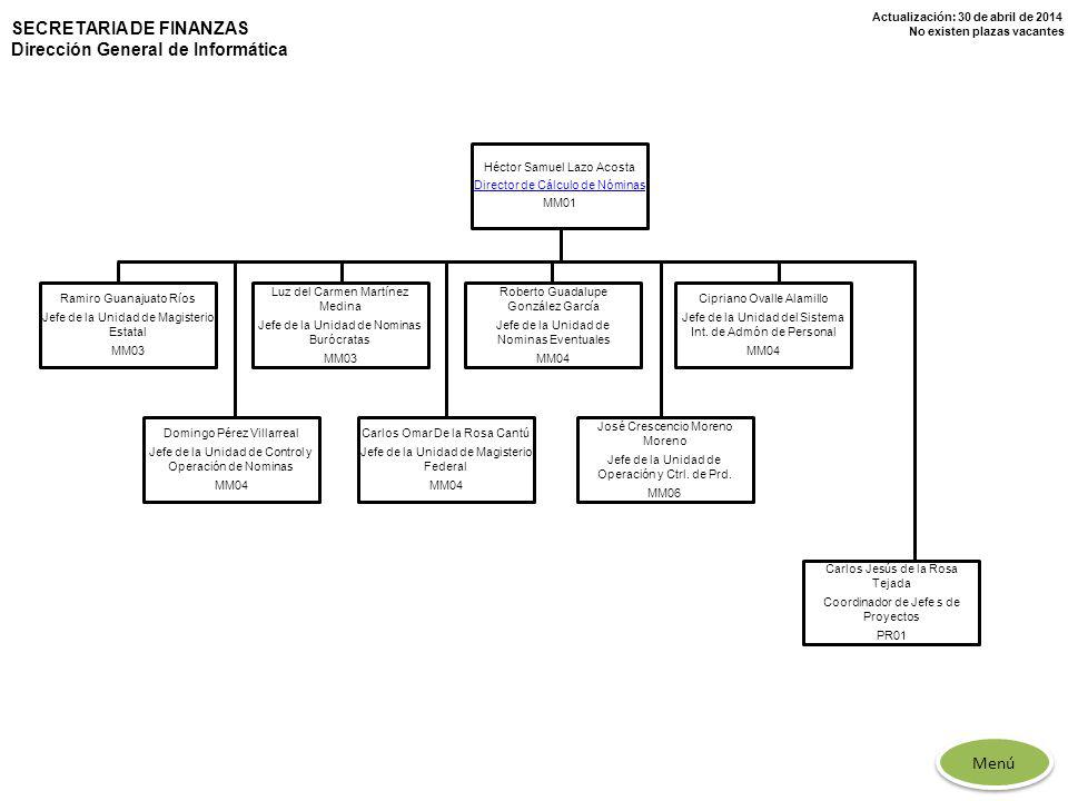 SECRETARIA DE FINANZAS Dirección General de Informática