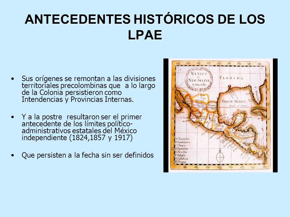 ANTECEDENTES HISTÓRICOS DE LOS LPAE