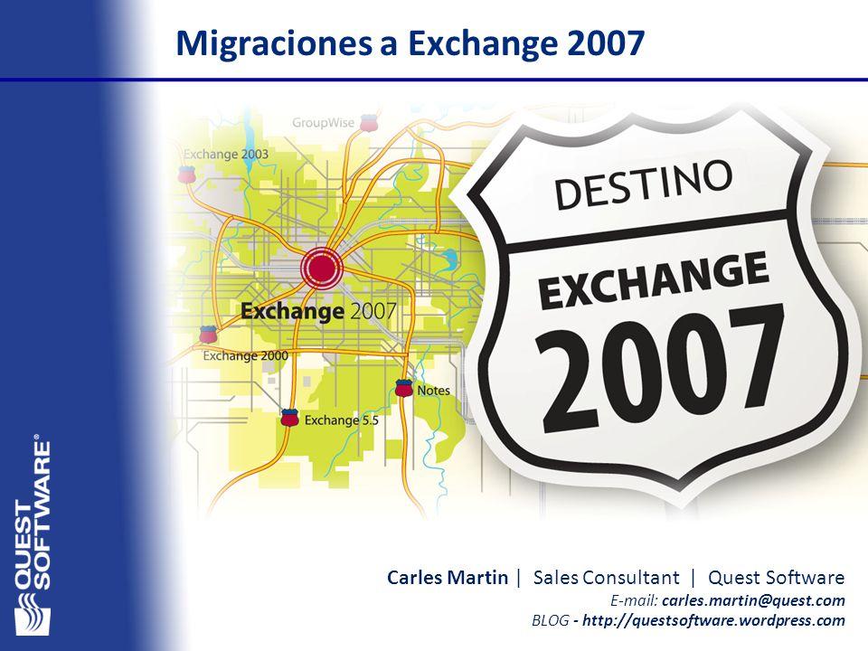 Migraciones a Exchange 2007
