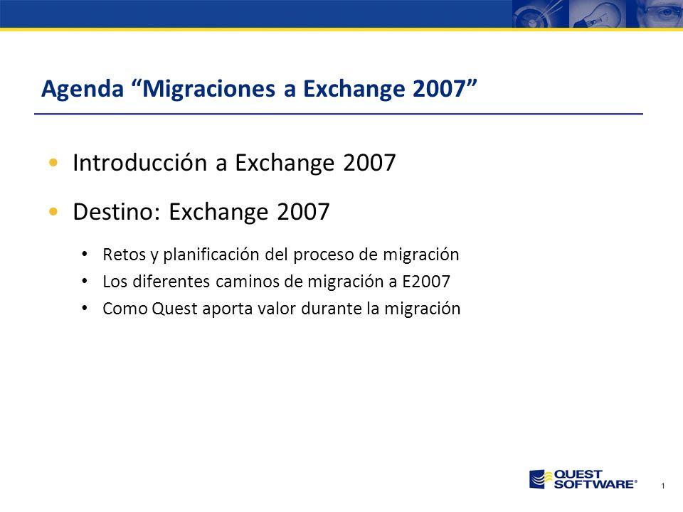 Agenda Migraciones a Exchange 2007