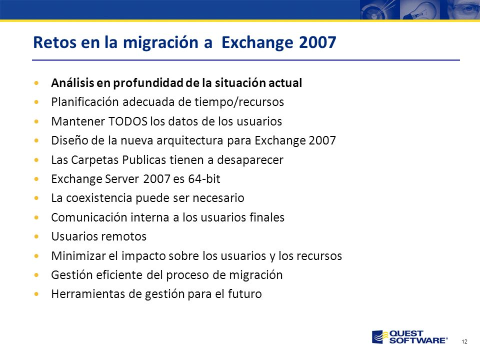 Retos en la migración a Exchange 2007