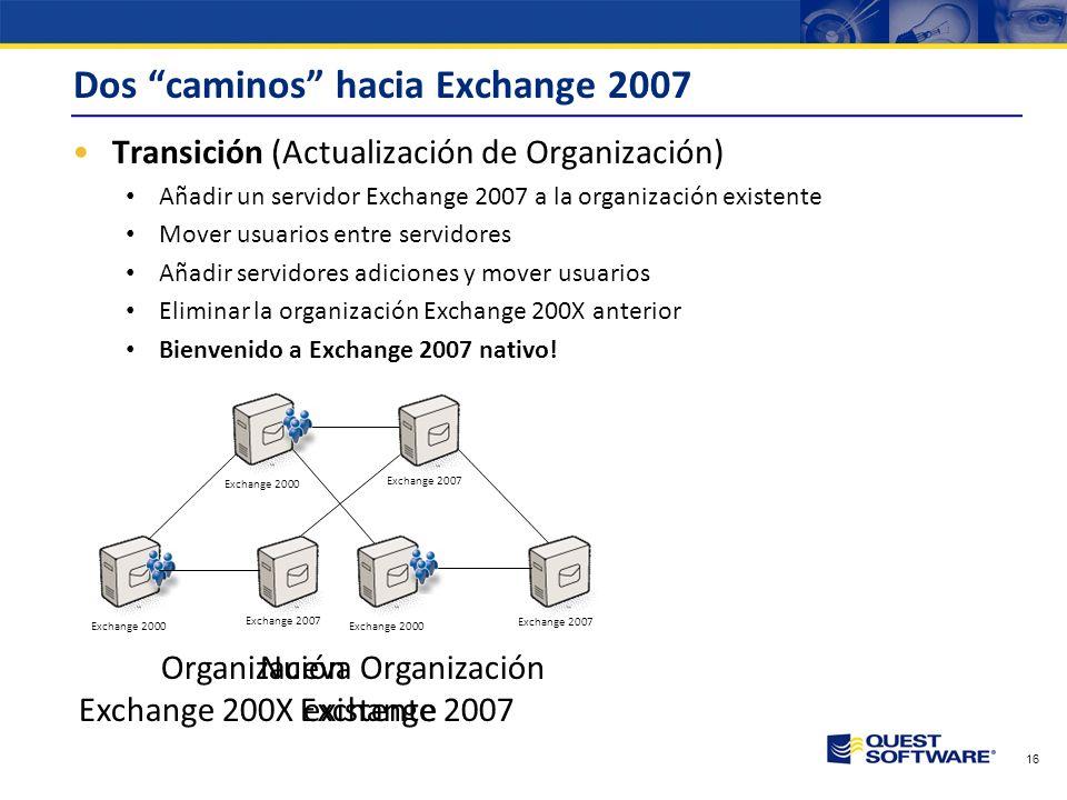 Dos caminos hacia Exchange 2007